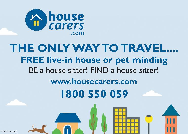 Housecarers - the only way to Travel - rent Free