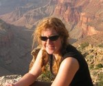 looking a little windblown at the Grand Canyon