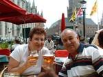 Ross and Evelyn in Bruges in 2004