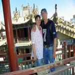 Lori and Roger in Ningxi China at Temple