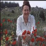 Helen in Turkey with poppies