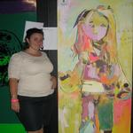Me with some of my art!