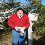 Checking the birds on Ocracoke-