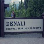 Me at the Entrance to Denali National Park