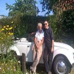 Gina and Mike with our old VW