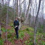 Hiking the local woodland trails in Cape Breton