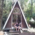 A-frame we built while Wwoofing in Florida