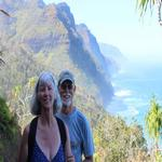 Hiking on the Kalalau Trail on Kaui'i
