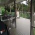 The rear deck and rainforest
